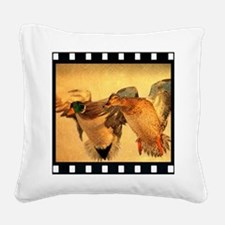 wild duck western country Square Canvas Pillow