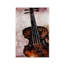 vintage violin Rectangle Magnet