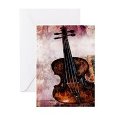 vintage violin Greeting Card
