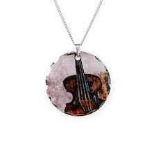 vintage violin Necklace