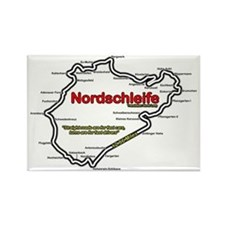 Nordschleife Race Track Rectangle Magnet