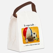Stay-at-home dad: balls Canvas Lunch Bag