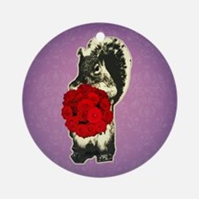 funny squirrel valentine Round Ornament