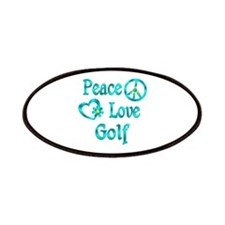 Peace Love Golf Patches