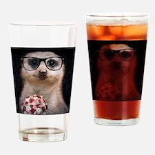 nerdy valentine Drinking Glass