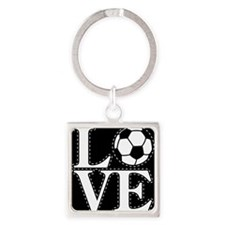 Love Soccer! Square Keychain