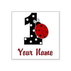 1 Ladybug ANY NAME! Sticker