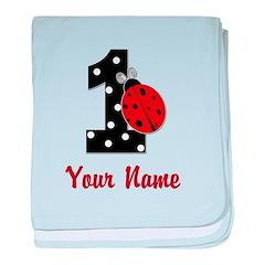 1 Ladybug ANY NAME! baby blanket