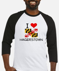 I Love Hagerstown Maryland Baseball Jersey