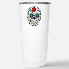 Dark Sugar Skull Travel Mug