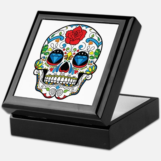 Dark Sugar Skull Keepsake Box