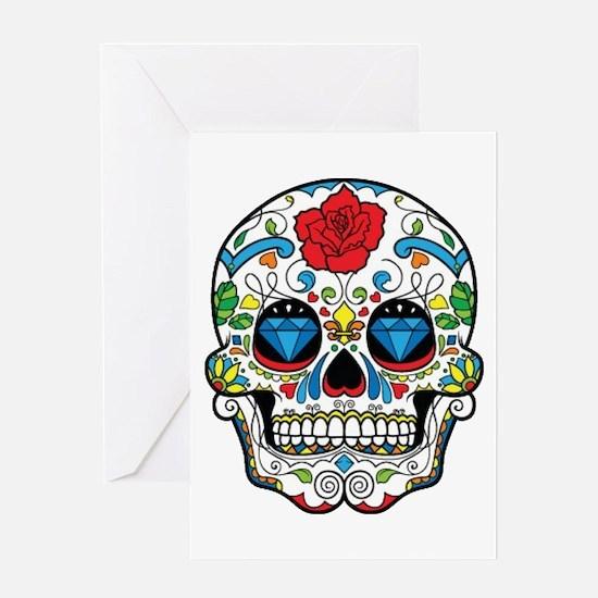 Dark Sugar Skull Greeting Cards