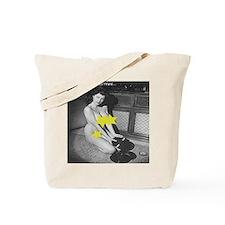 Yellow Star Vinyl Tote Bag