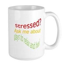 Ask me about Ways to relax and heal Mugs
