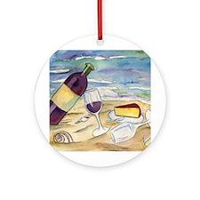 Wine Beach Party Ornament (Round)