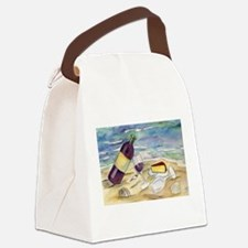 Wine Beach Party Canvas Lunch Bag