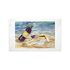 Wine Beach Party 3'x5' Area Rug