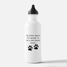 Well Trained Cocker Spaniel Owner Water Bottle