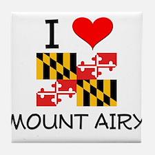I Love Mount Airy Maryland Tile Coaster