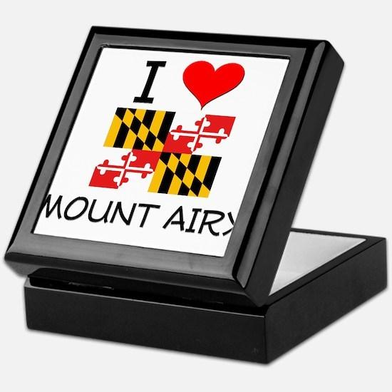 I Love Mount Airy Maryland Keepsake Box