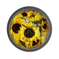 country sunflower western fashion Wall Clock