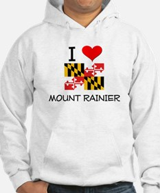 I Love Mount Rainier Maryland Hoodie