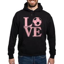 Love Soccer Pink Hoodie