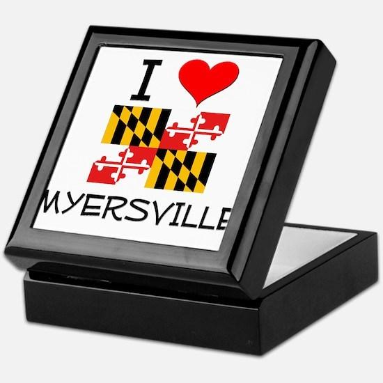 I Love Myersville Maryland Keepsake Box
