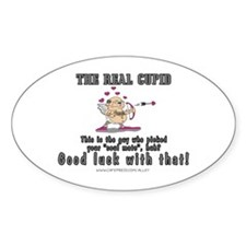 The Real Cupid (1) Oval Decal