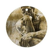 The thinker  Round Ornament