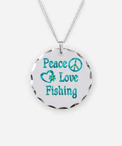 Peace Love Fishing Necklace