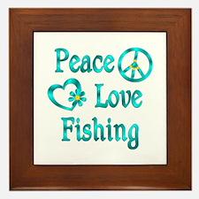Peace Love Fishing Framed Tile