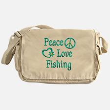 Peace Love Fishing Messenger Bag