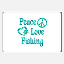 Peace Love Fishing Banner
