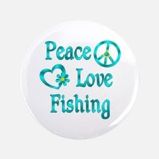 """Peace Love Fishing 3.5"""" Button (100 pack)"""