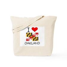 I Love Oakland Maryland Tote Bag