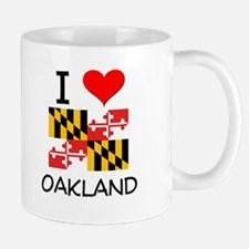I Love Oakland Maryland Mugs