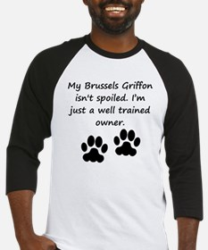 Well Trained Brussels Griffon Owner Baseball Jerse