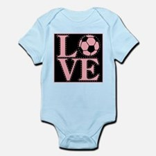 Love Soccer Pink Infant Bodysuit