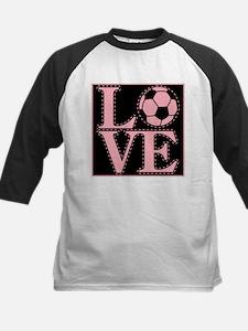 Love Soccer Pink Tee