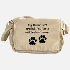 Well Trained Boxer Owner Messenger Bag