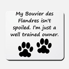 Well Trained Bouvier des Flandres Owner Mousepad