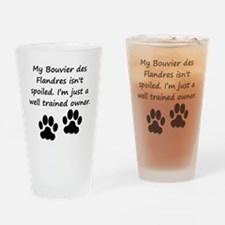 Well Trained Bouvier des Flandres Owner Drinking G