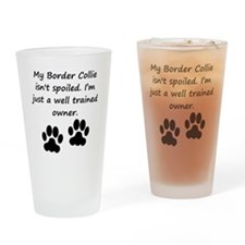 Well Trained Border Collie Owner Drinking Glass