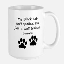 Well Trained Black Lab Owner Mugs