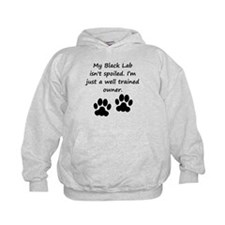 Well Trained Black Lab Owner Hoodie