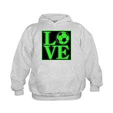Love Soccer Green Hoodie