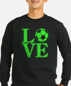 Love Soccer Green T