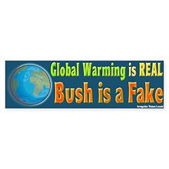 Global Warming is Real Bumper Bumper Sticker