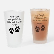 Well Trained Beagle Owner Drinking Glass